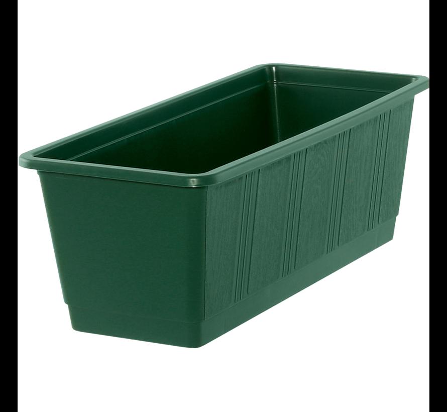 Balkonbak 40 cm donker groen
