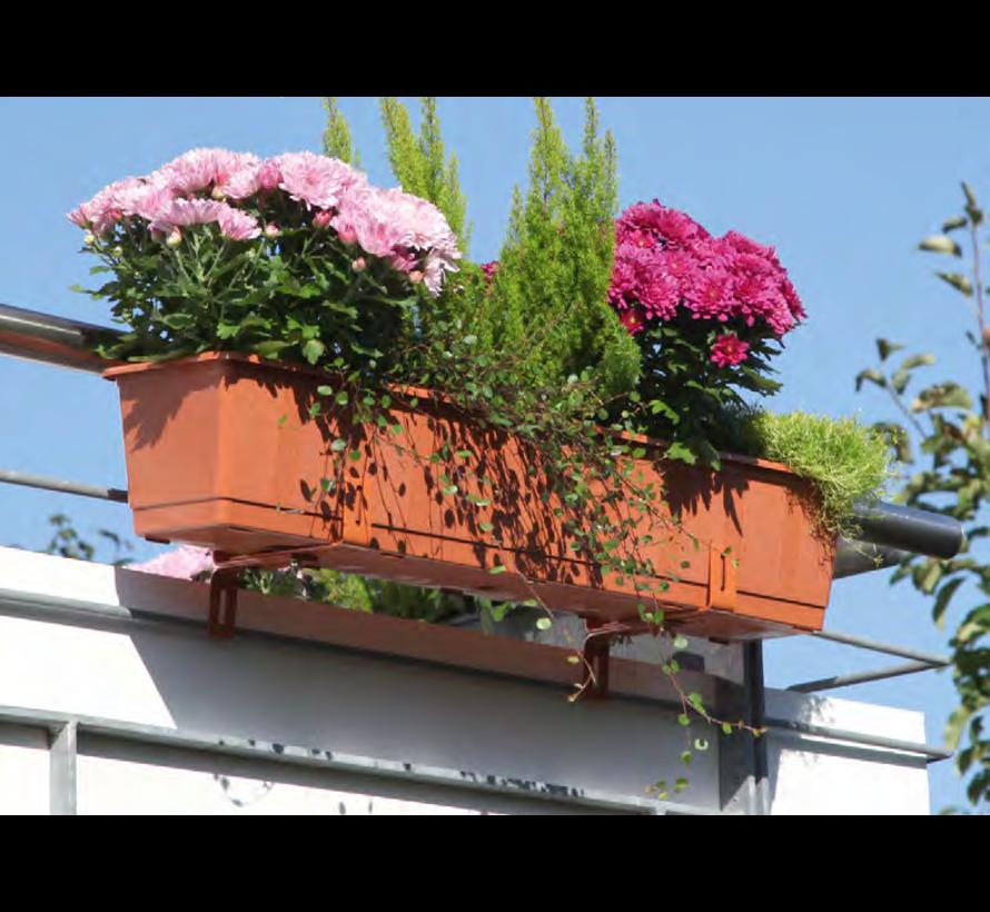 Balkonbak 80 cm terracotta