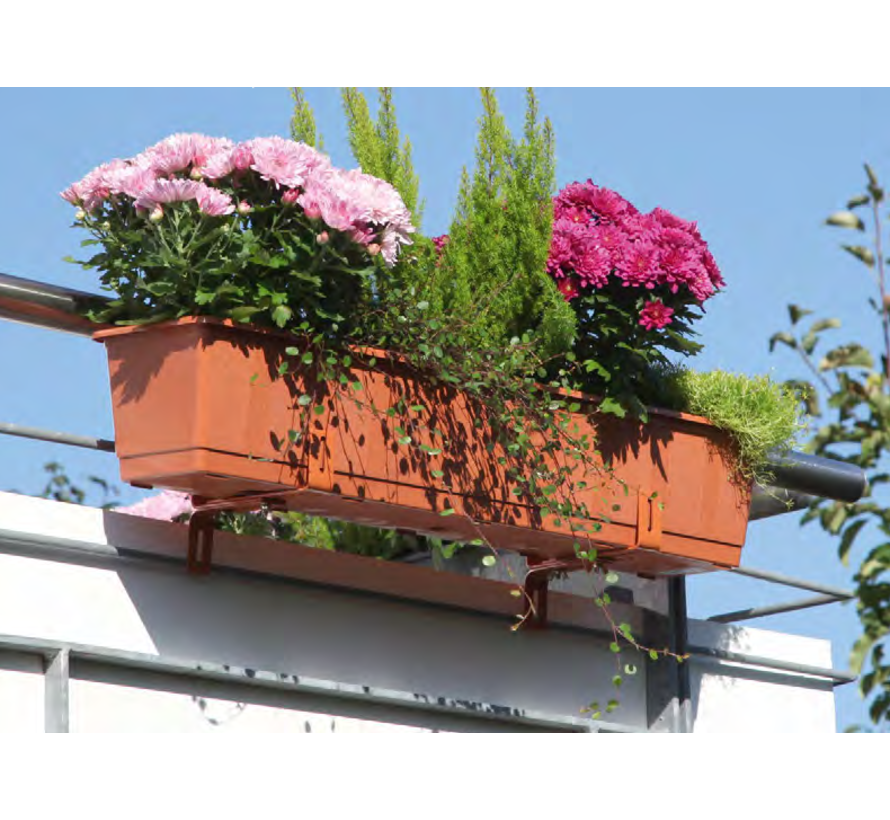 Balkonbak 80cm terracotta
