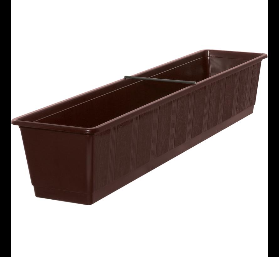 Balkonbak 80cm bruin