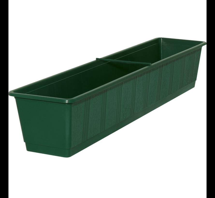 Balkonbak 80 cm donker groen