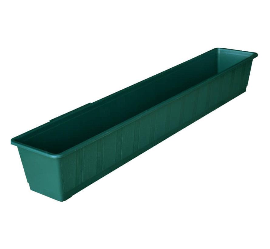 Balkonbak 100 cm donker groen