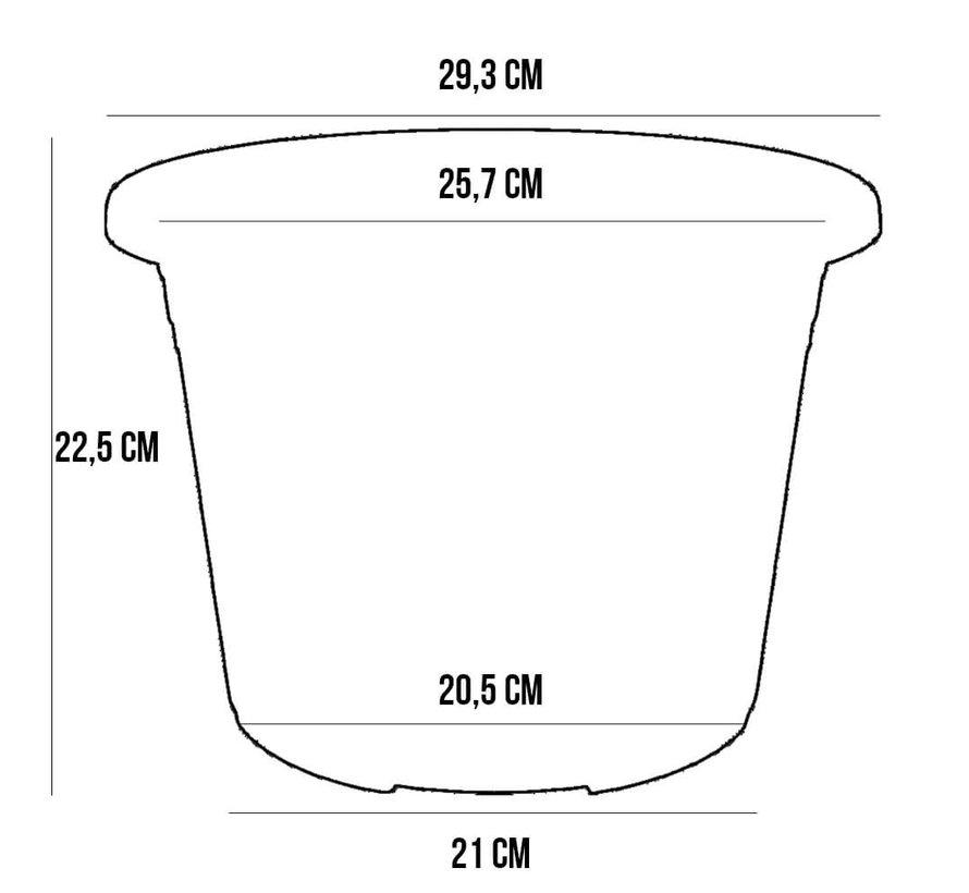 Bloempot CYLINDRO ø 30cm - Antraciet