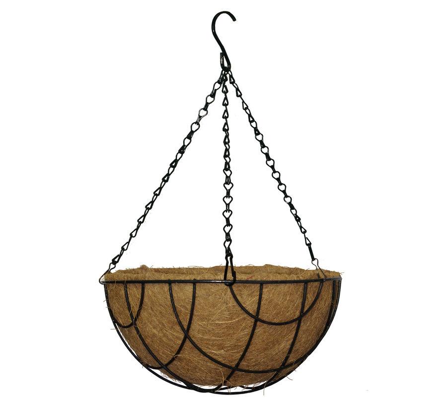 Hanging Basket - Zwart gecoat - 25 tot 40 cm