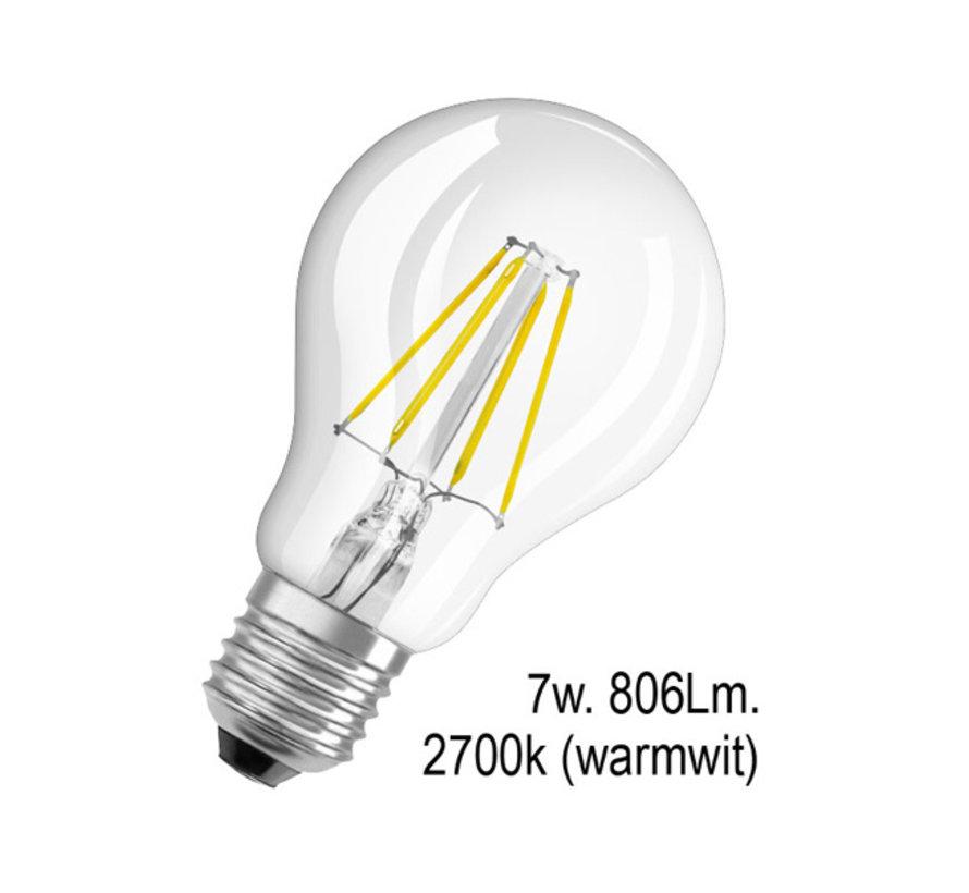 Ledlamp - E27 - 7w - 2700k - Filament helder
