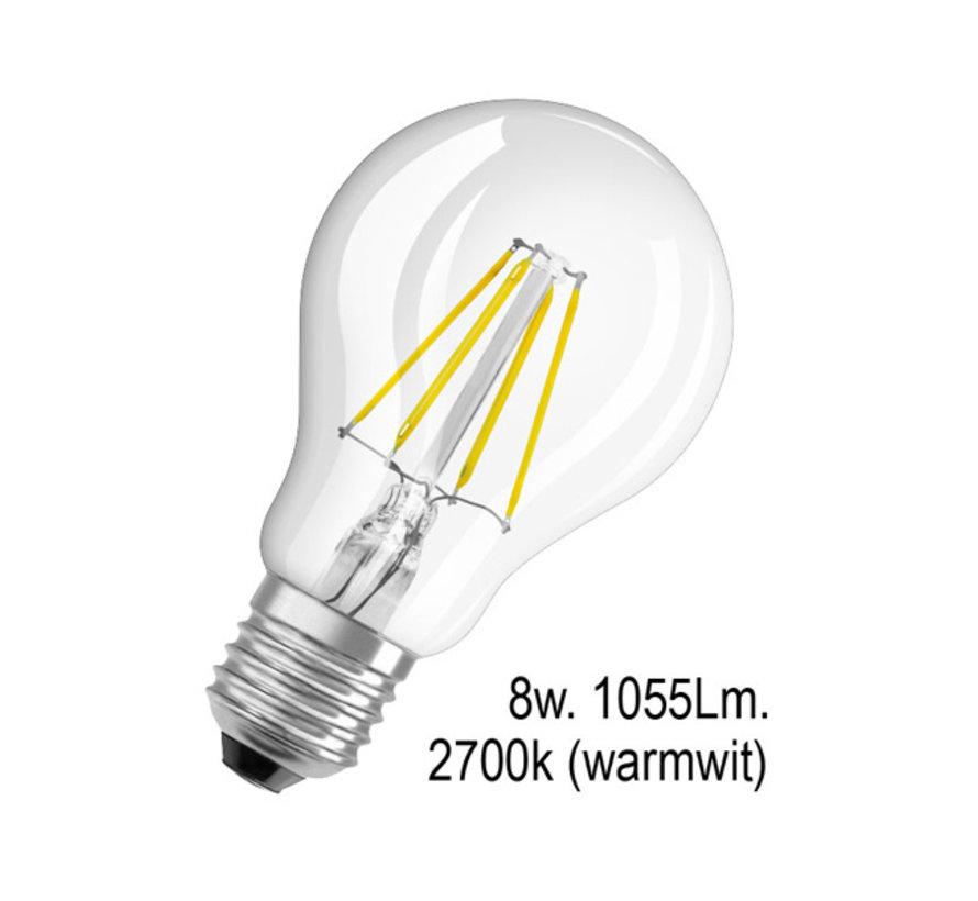 Ledlamp - E27 - 8w - 2700k - Filament - helder