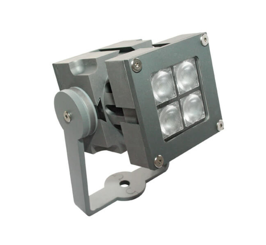 Aanlichtspot led 10w - Spotpro - Aluminium - Zilver