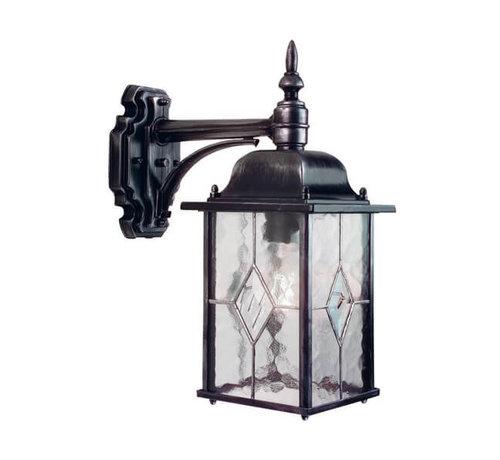 Franssen Verlichting Wandlamp - Wexford - Hangend - Zwart/Zilver
