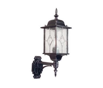 Franssen Verlichting Wandlamp - Wexford - Staand - Zwart/Zilver