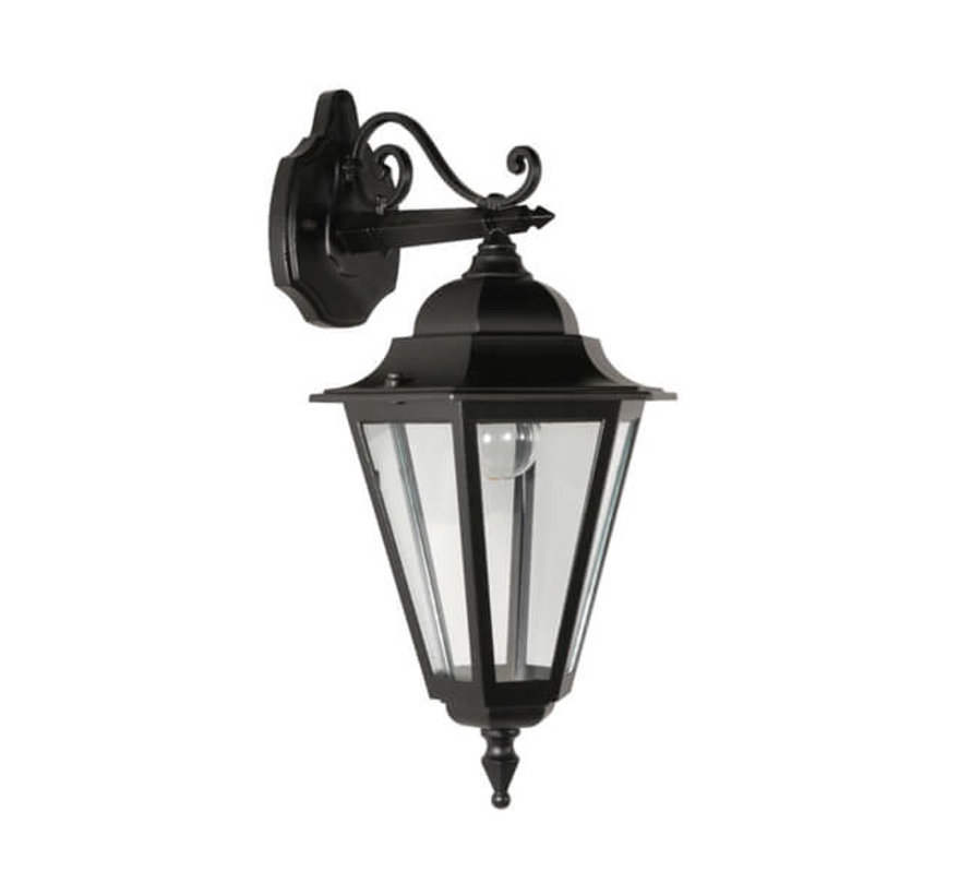 Wandlamp - Teccia - Hangend - Zwart