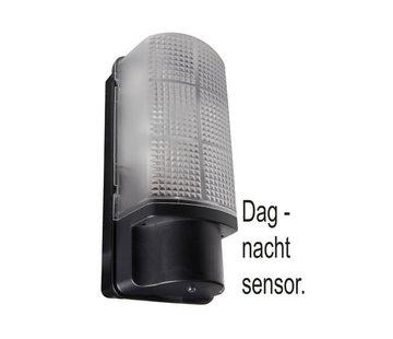 Franssen Verlichting Wandlamp met Dag & Nacht sensor - Zwart