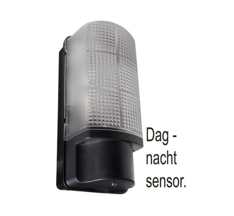 Wandlamp met Dag & Nacht sensor - Zwart