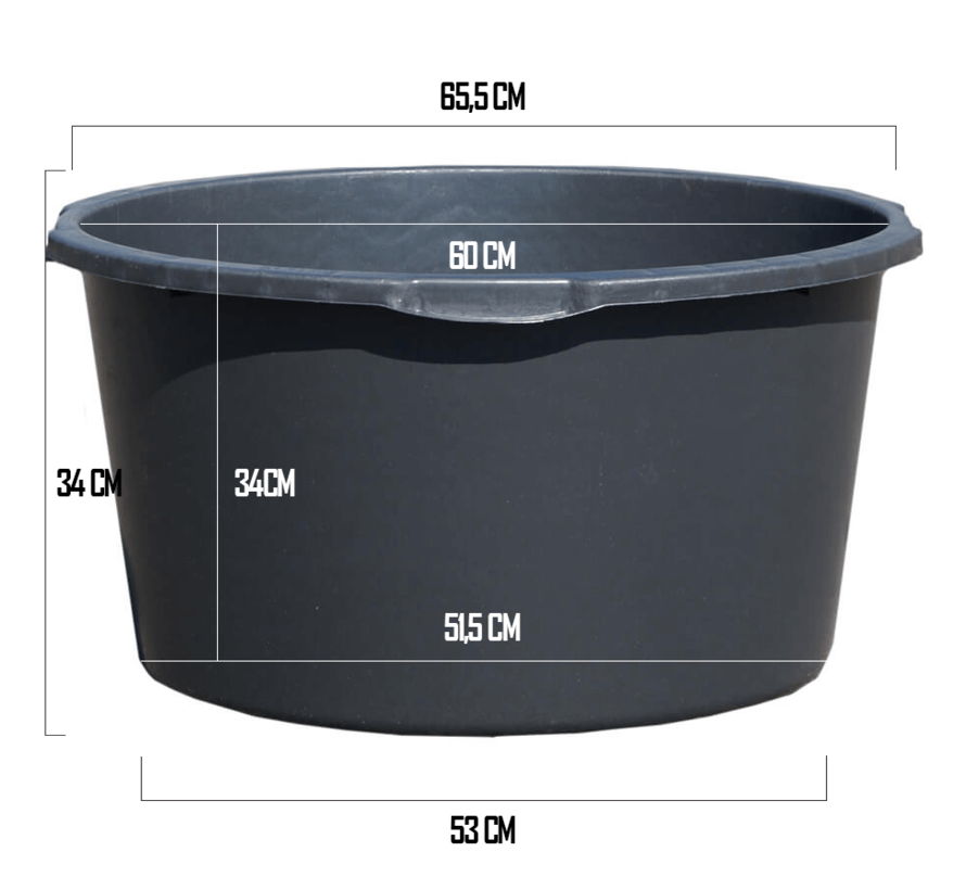 Kuip 90 liter - ø 65,5 x 33,5 cm