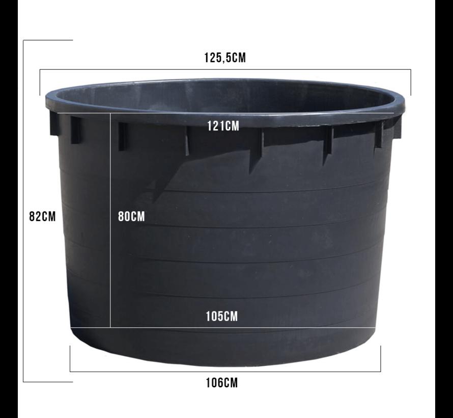 Kuip 750 liter - ø 125,5 x 82 cm.