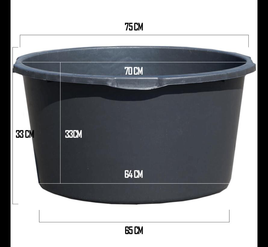 Kuip 100 Liter - ø 75 x 33 cm