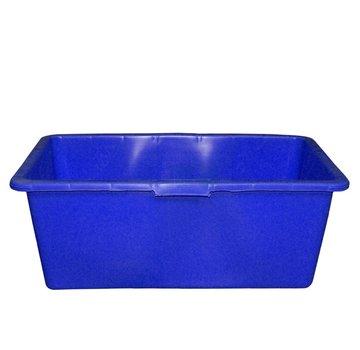 Meuwissen Agro Rechthoek kuip - 90 Liter - Blauw - 79 x 48 x 30 cm.