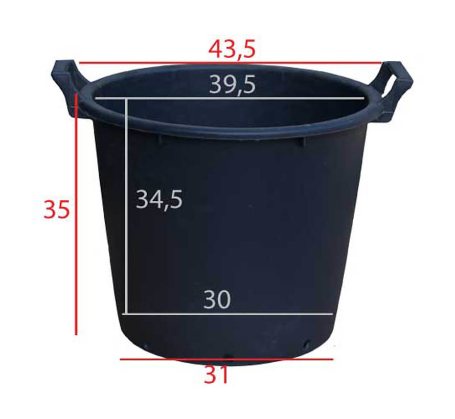 Boomcontainer 32 Liter / ø 44 x 35 cm