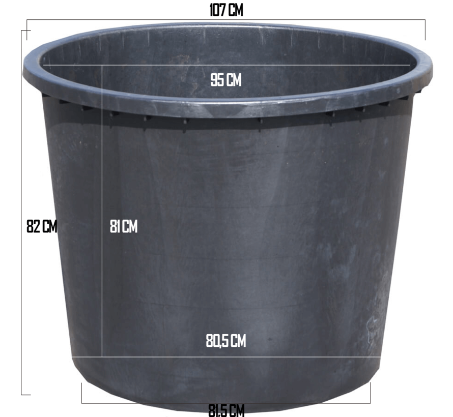 Boomkuip 500 liter (ø 104 x 82 cm)