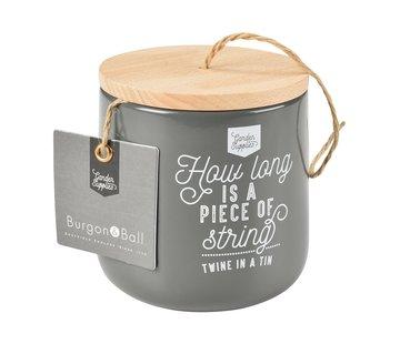 Burgon & Ball Bewaarblik voor bindtouw - Koolzwart