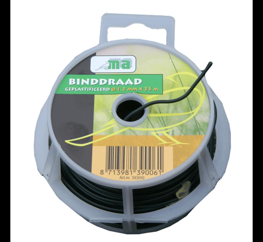 Binddraad - Geplastificeerd - ø 1,2 mm x 25 meter