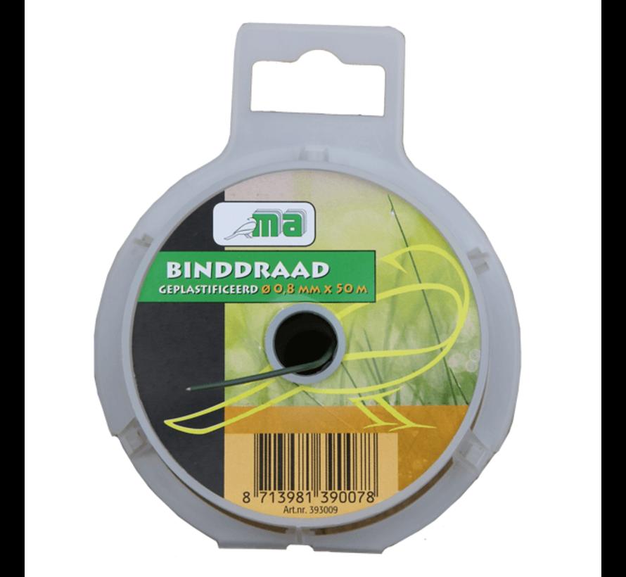 Binddraad - Geplastificeerd - ø 0,8 mm x 50 meter