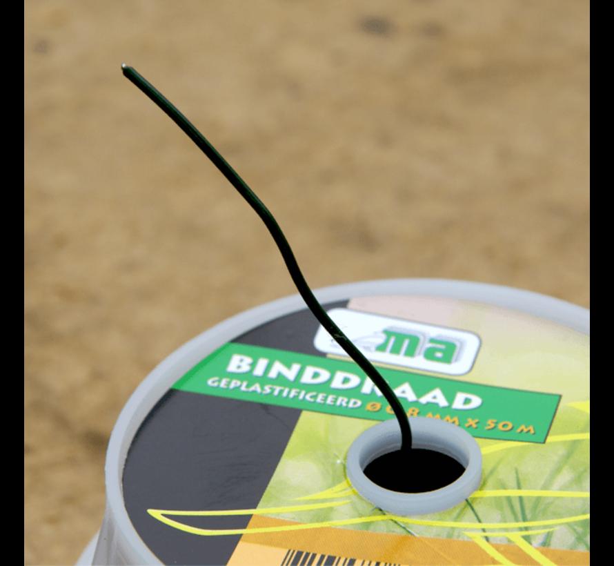 Binddraad - Geplastificeerd - ø 0,6 mm x 50 meter