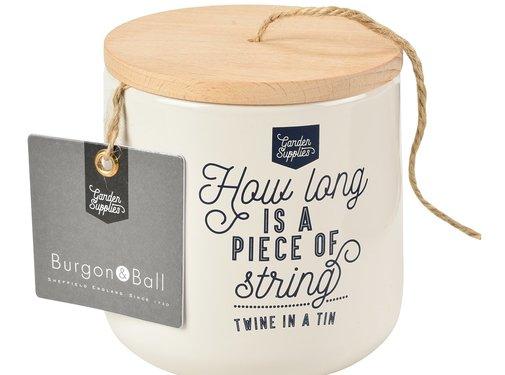 Burgon & Ball Bewaarblik voor bindtouw - Crème
