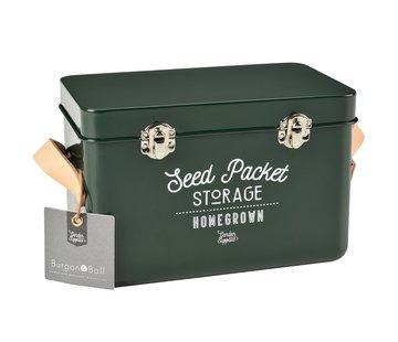 Burgon & Ball Bewaarblik zaden - Metaal - Groen