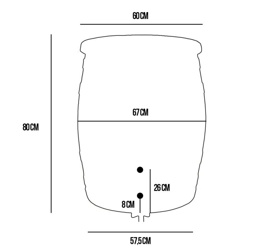 Regentonset Roto 240 liter + voet