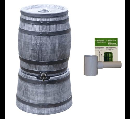 Roto Regentonset Roto 50 Liter + Voet + Vulautomaat - Grijs