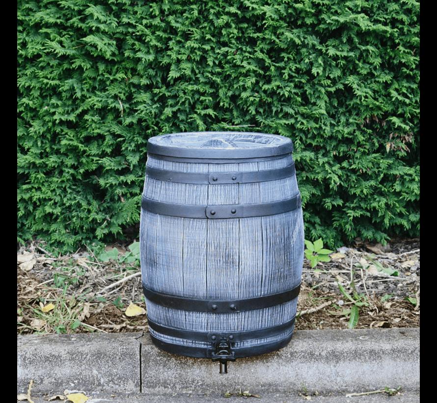 Regentonset Roto 50 liter + voet - Grijs