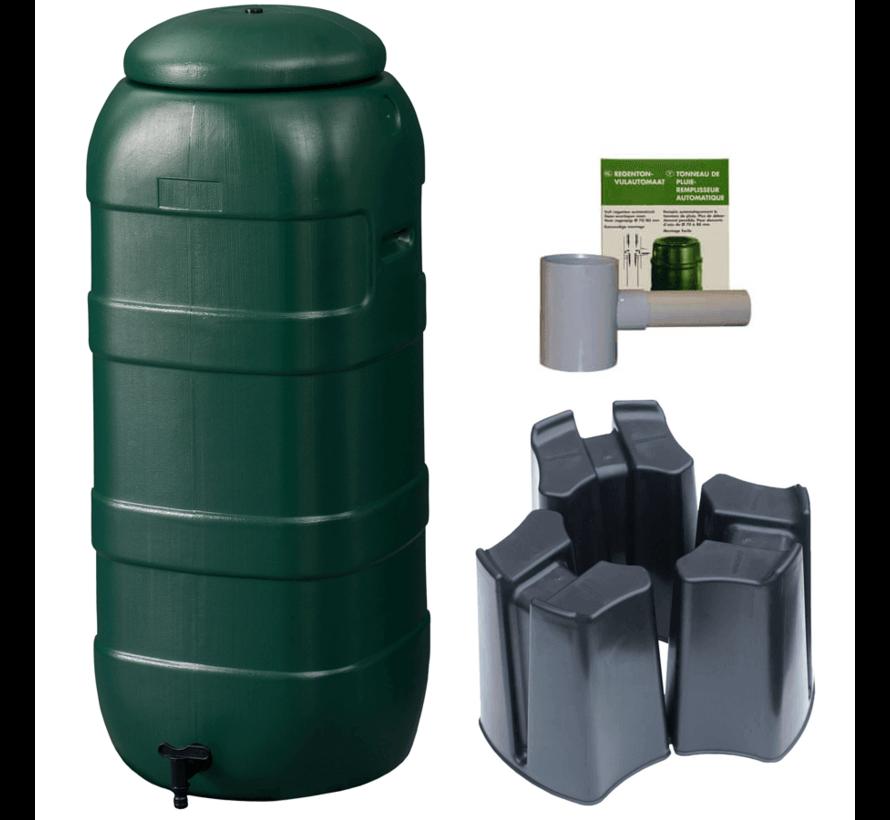 Regenton Rainsaver - Groen 100 L + Voet + Vulautomaat