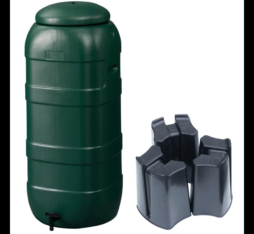 Regenton Rainsaver Groen 100 liter + Voet