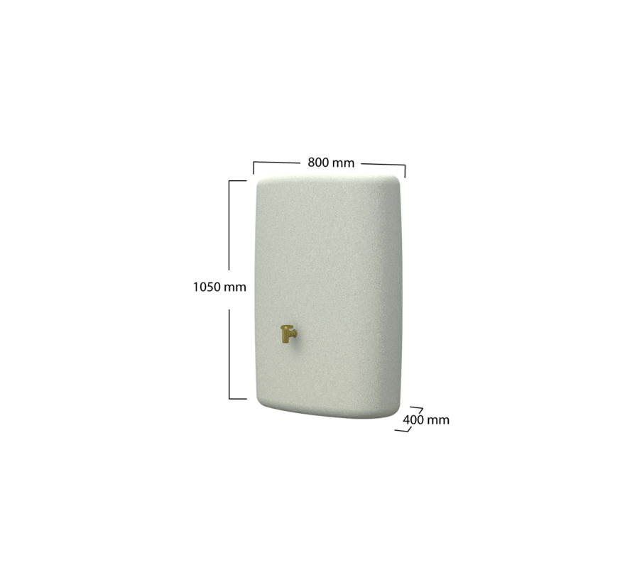 Terra Regenton - 275 liter - Zandbeige