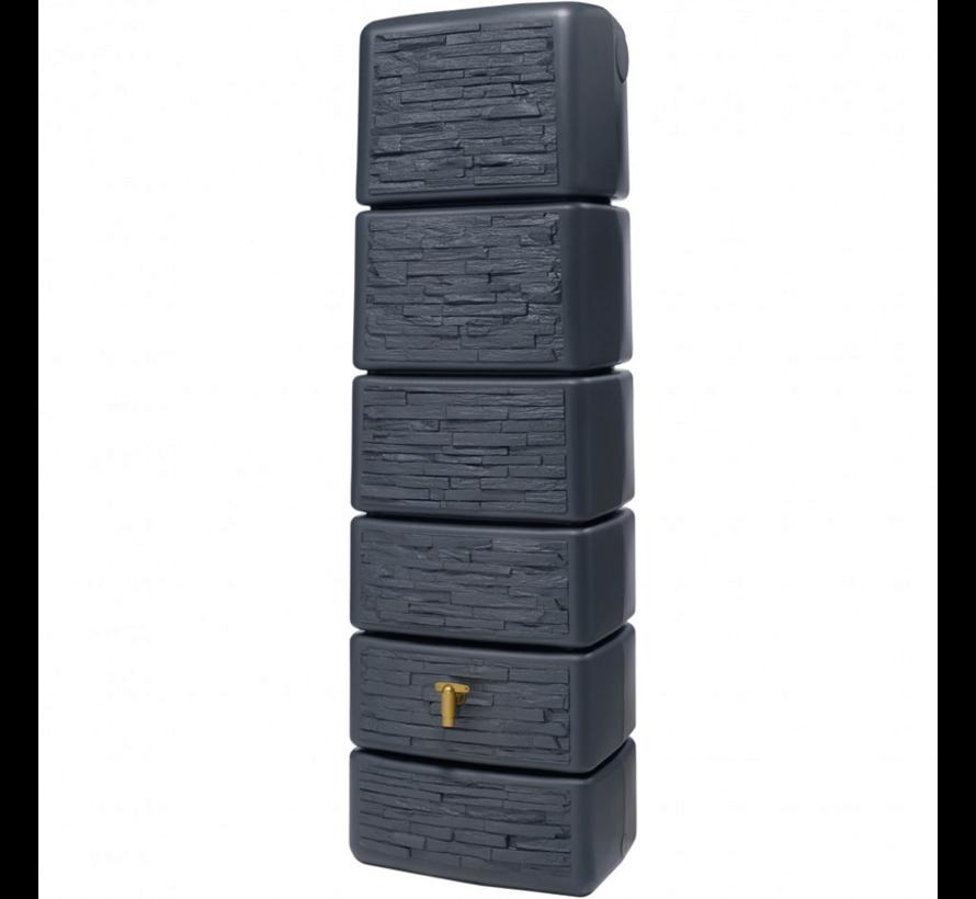 Regenton Slim - Stone Decor - 300 Liter - Antraciet