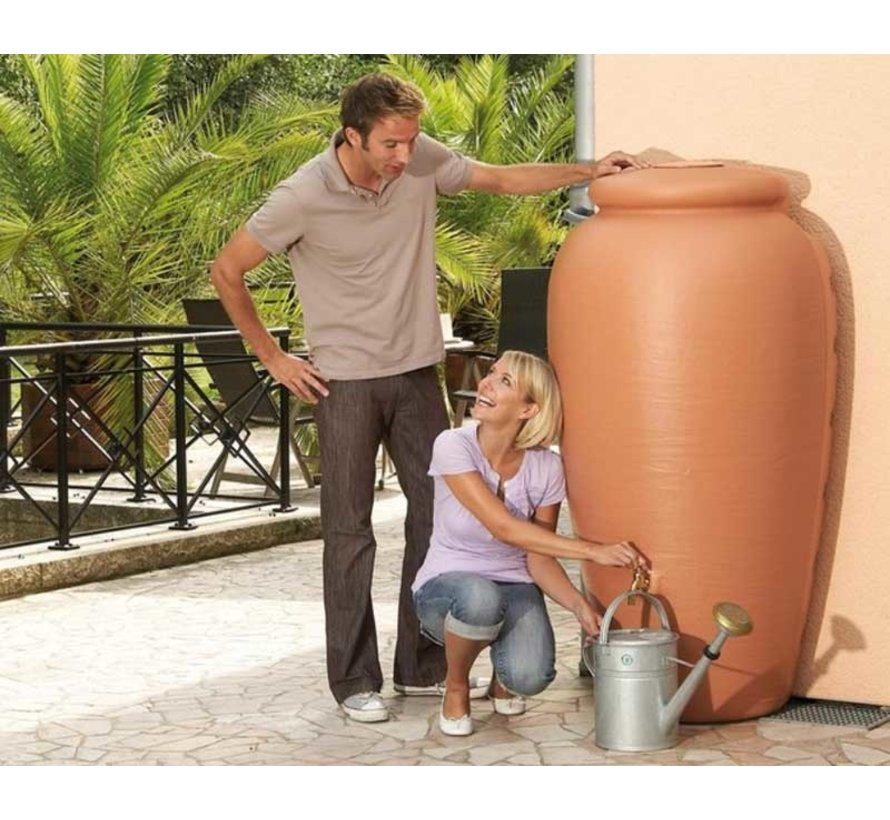 Regenton Amphore wand 350 liter - Terracotta