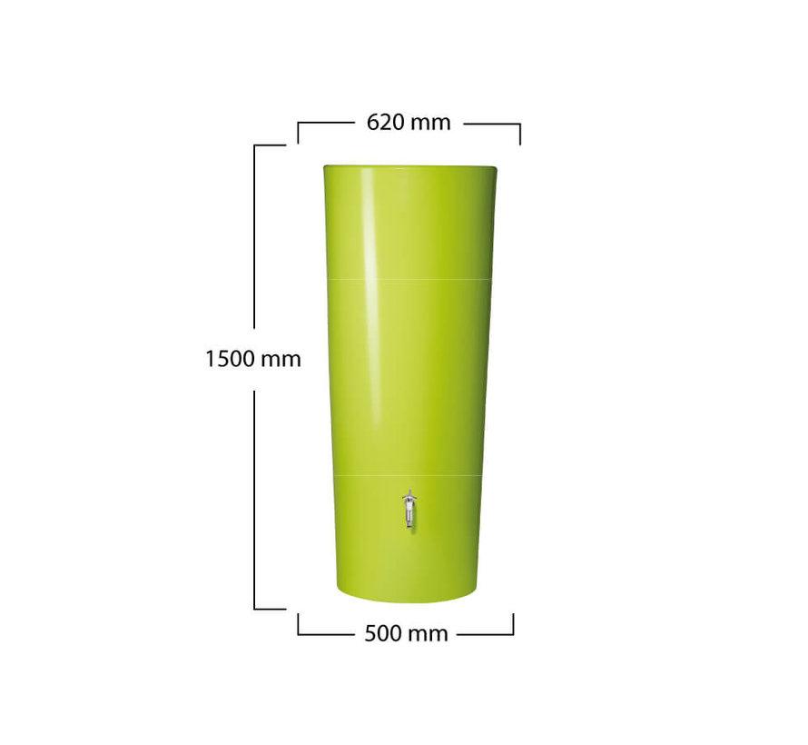 Regenton met plantenbak 2 in 1 Lime 350 liter