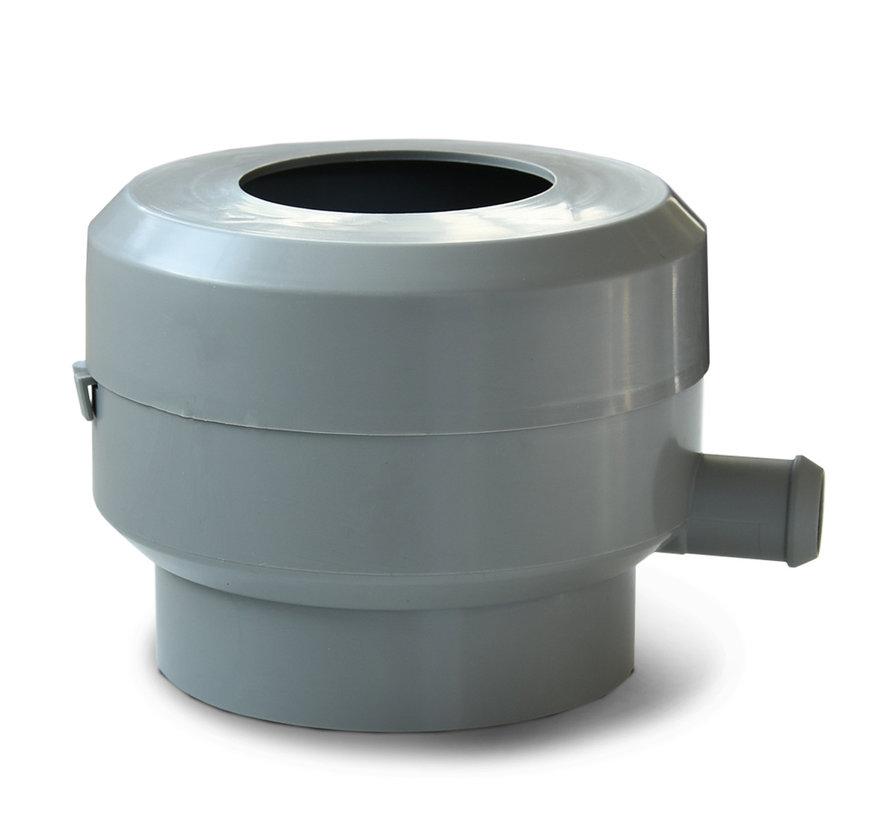 Regenton Vulautomaat 60 - 100 mm + afsluiter en bladvanger