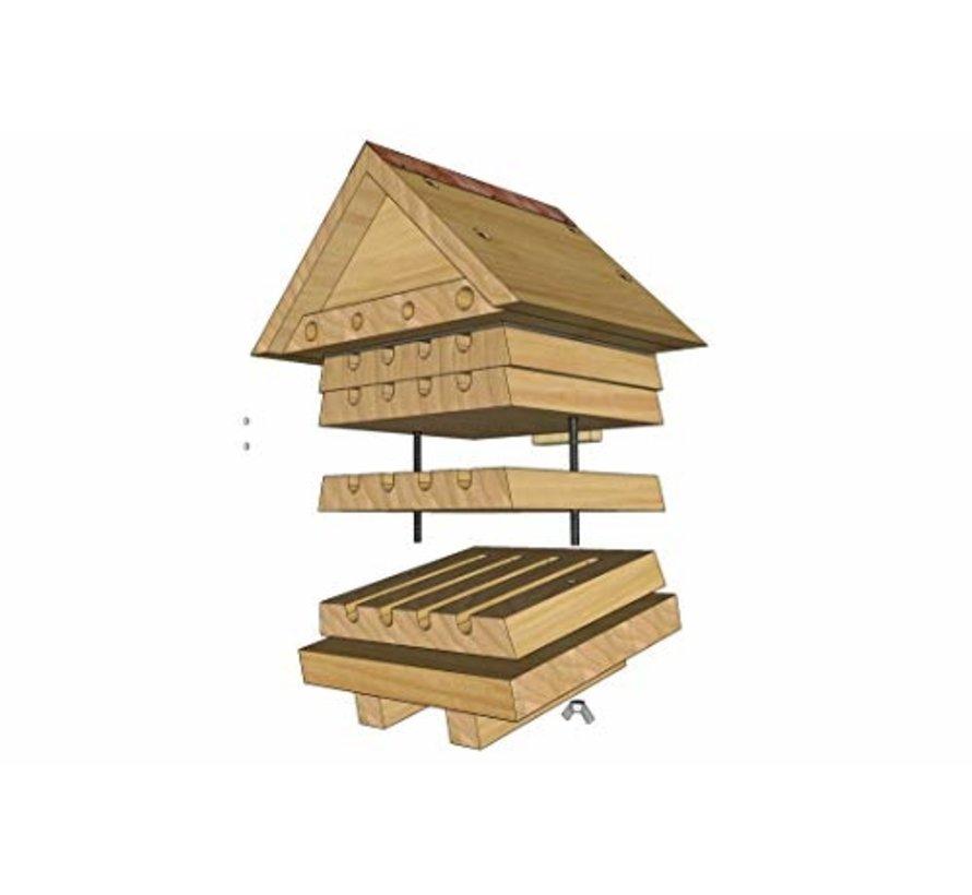 Bijenkorf Hout - Stapelbaar