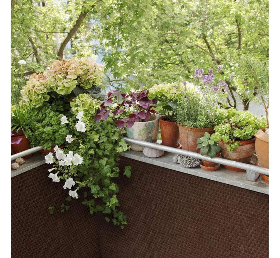 Balkonscherm - Walnoot bruin