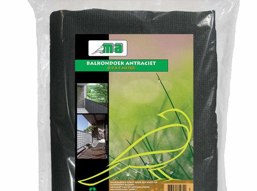 Meuwissen Agro Balkondoek - Antraciet - 0,9 x 5 meter