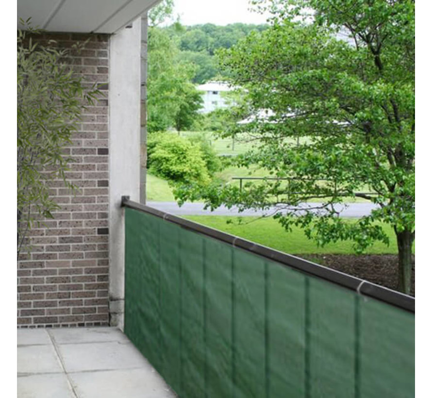 Balkondoek - Groen - 0,9 x 5 meter