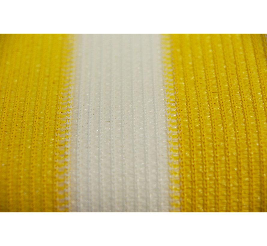 Balkondoek - Geel / Wit - 0,9 x 5 meter
