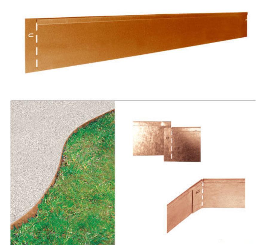 Graskant Cortenstaal - 118 x 20 cm