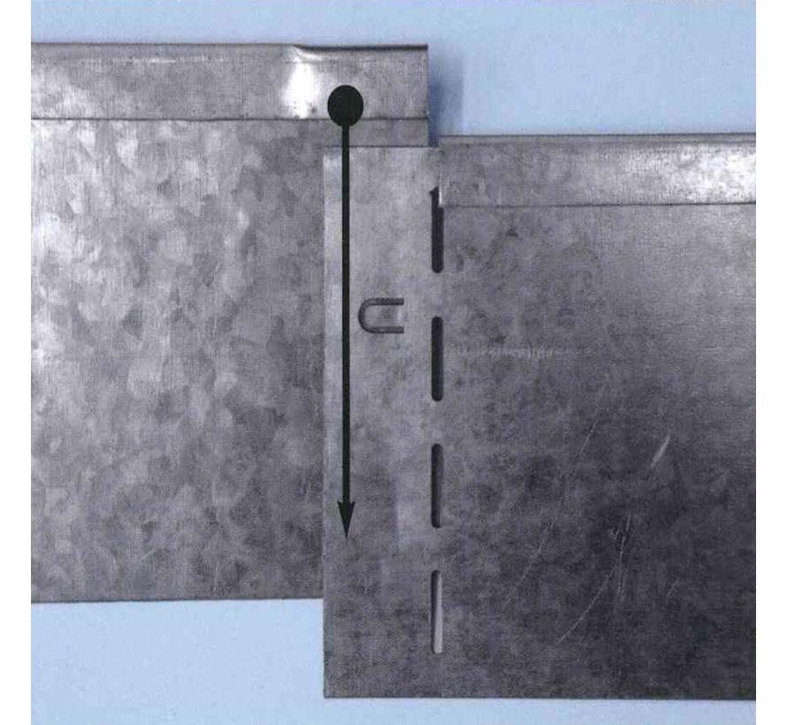 Graskant Cortenstaal - 118 x 13 cm