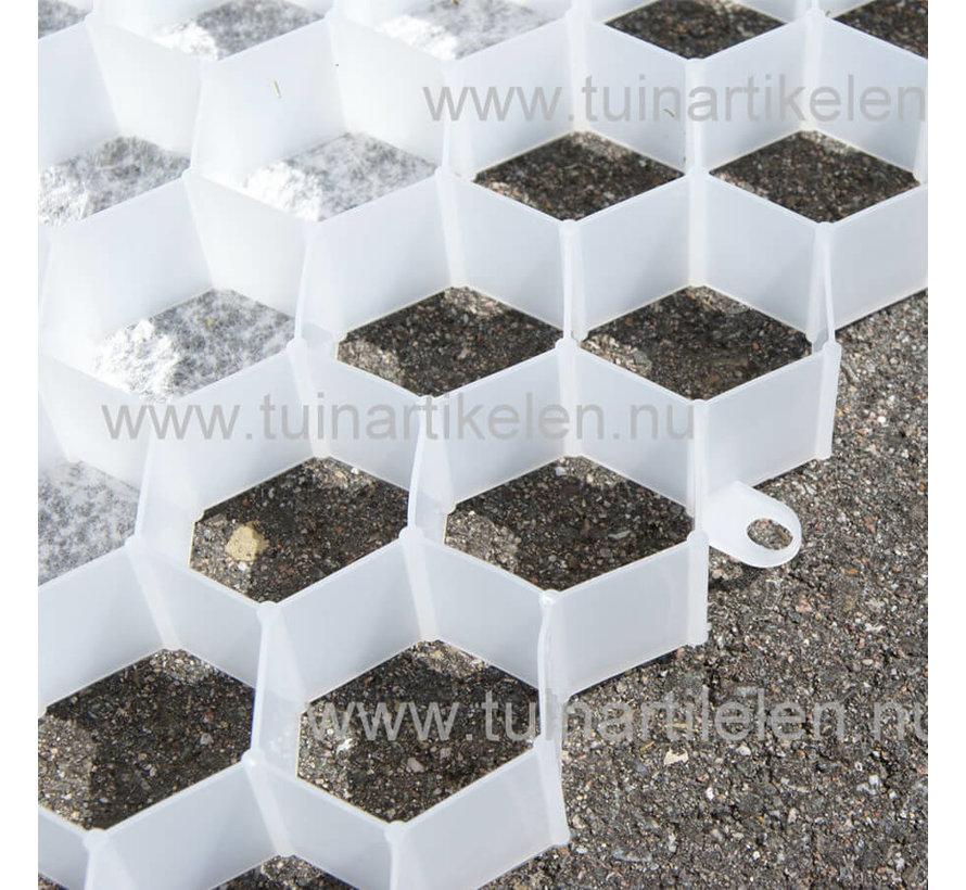 Grindplaat wit 120 x 80 cm - met onderdoek