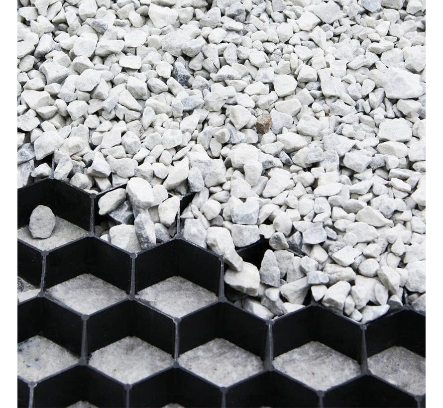 Grindplaat Zwart 120 x 80 cm - met onderdoek
