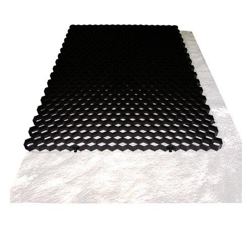 Trudiplas Grindplaat Zwart 120 x 80 cm - met onderdoek