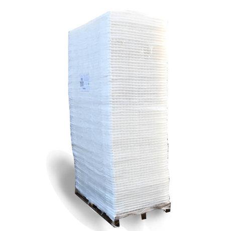 Trudiplas Pallet Grindplaten Wit 120 x 80 cm + onderdoek - 75 stuks