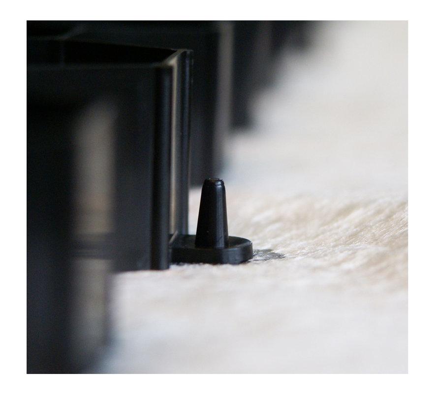 Pallet Grindplaten Zwart - 120 x 80 cm + Onderdoek- 75 stuks